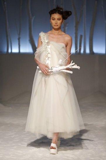 Abito midi in tulle David Fielden