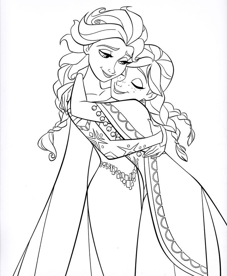 Disney gefrorenen Färbung Blatt Anna – Ausmalbilder für kinder ...
