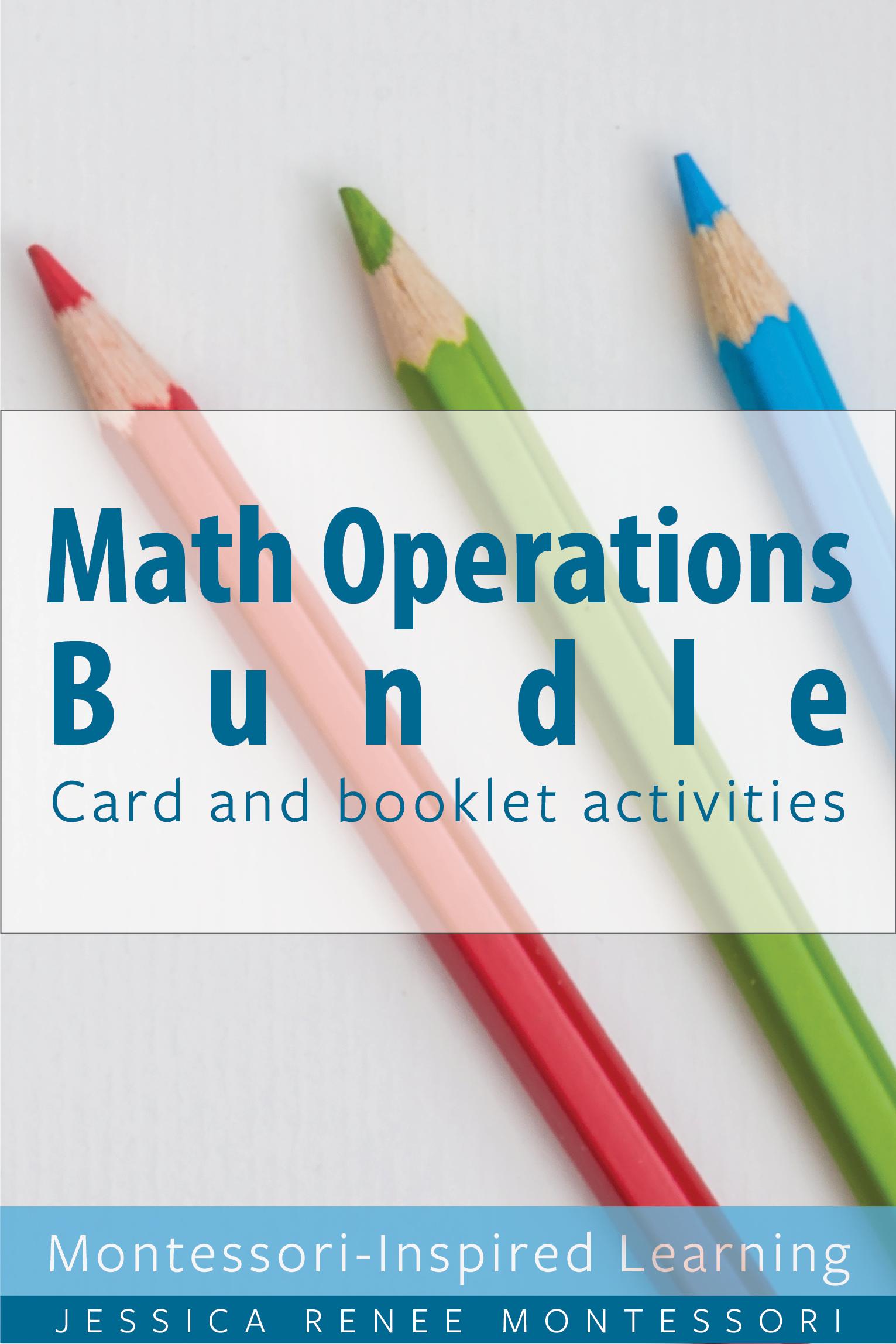 Montessori Math Addition Subtraction Multiplication
