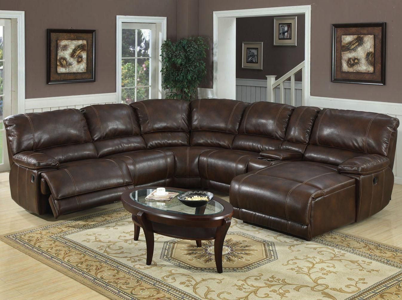 E Motion Furniture Jacob Reclining Chaise Sectional Orientation Right Hand Facing