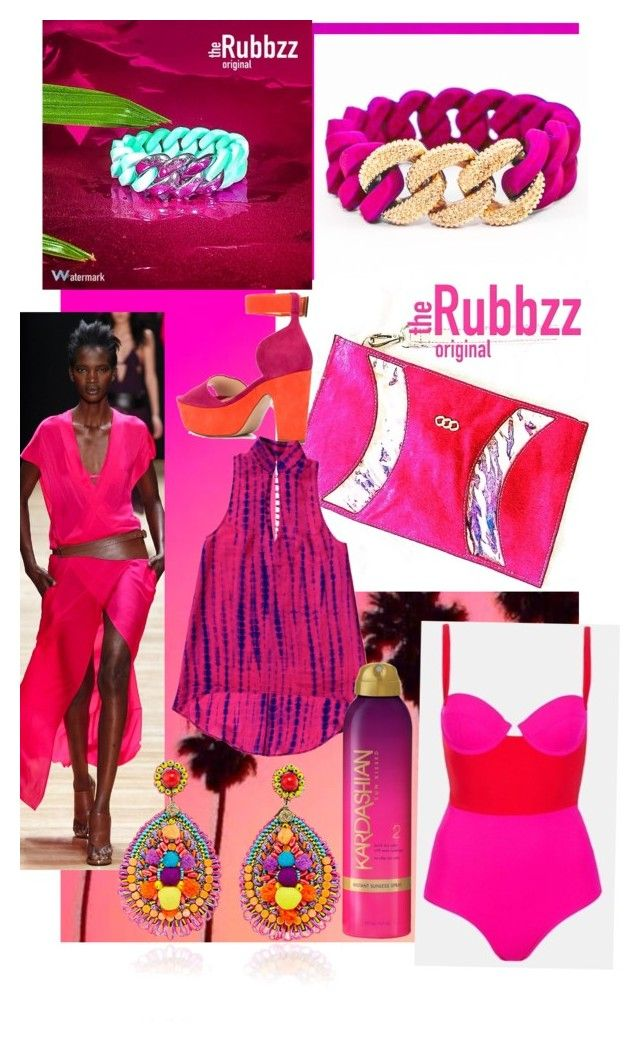 Fuschia Summer. With The Rubbzz original band and Fuschia pony hair resort clutch. by therubbzzoriginal on Polyvore featuring polyvore, fashion, style, Nicholas Kirkwood, Ranjana Khan, Australian Gold and clothing