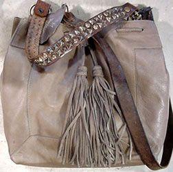 MCFADIN Grey Switzerland Handbag w/vintage straps.