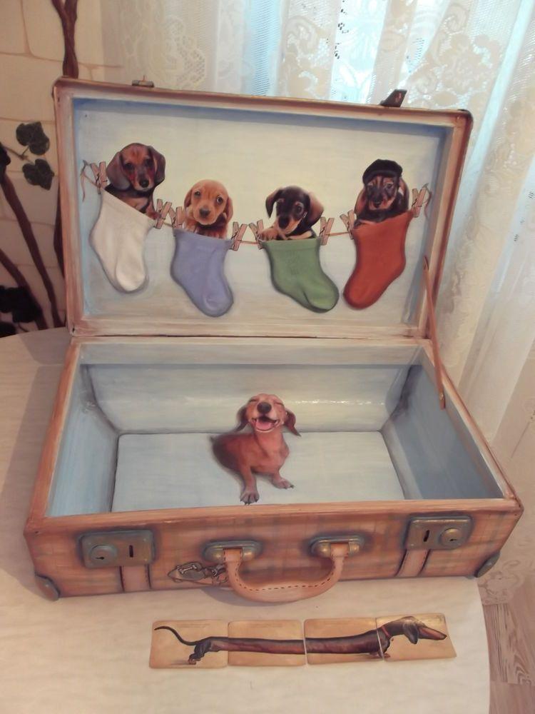 Новая жизнь старого чемодана  Кто, кто в чемодашке живёт  - Ярмарка Мастеров  - ручная работа, handmade d7ffa71f8ab