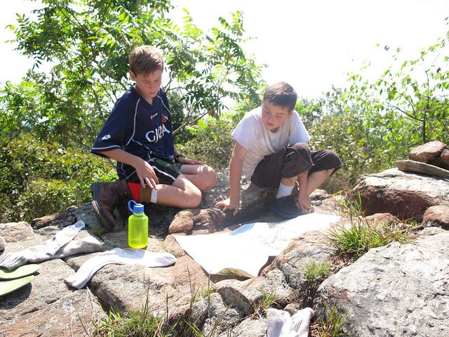 Appalachian Trail-Day 7: Checking the map 1 by Treetop Mom, via Flickr