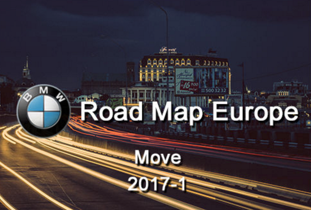 BMW ROAD MAP EUROPE MOVE 2017-1 Electronic Delivery | BMW