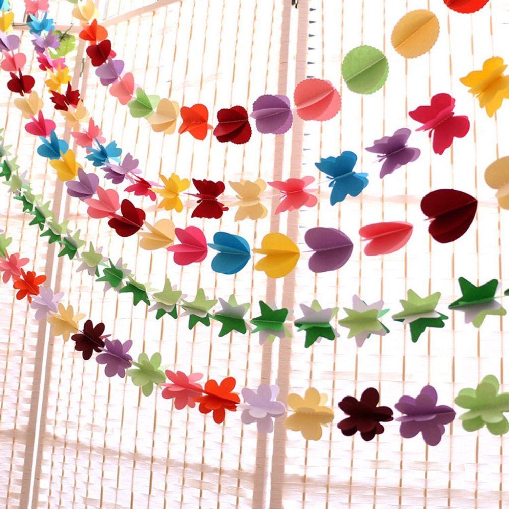 18m Hanging Tissue Paper Colorfu Flower Garland String Wedding