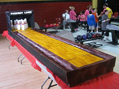 Cake Boss Bowling Alley Cake How Was The Cake Made The Cake Is Made Out Of Vanilla Sheet Cakes With Custard Cake Boss Vanilla Sheet Cakes Bowling Cake