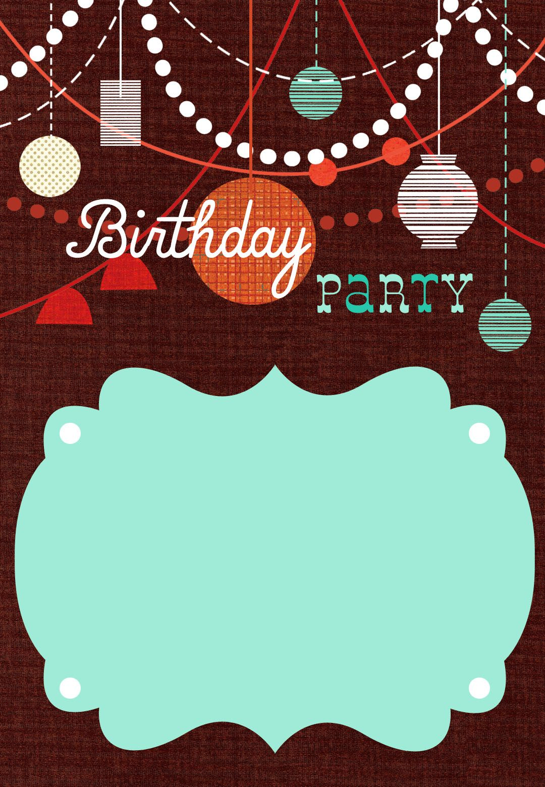 Birthday Decorations Free Printable Birthday Invitation Template