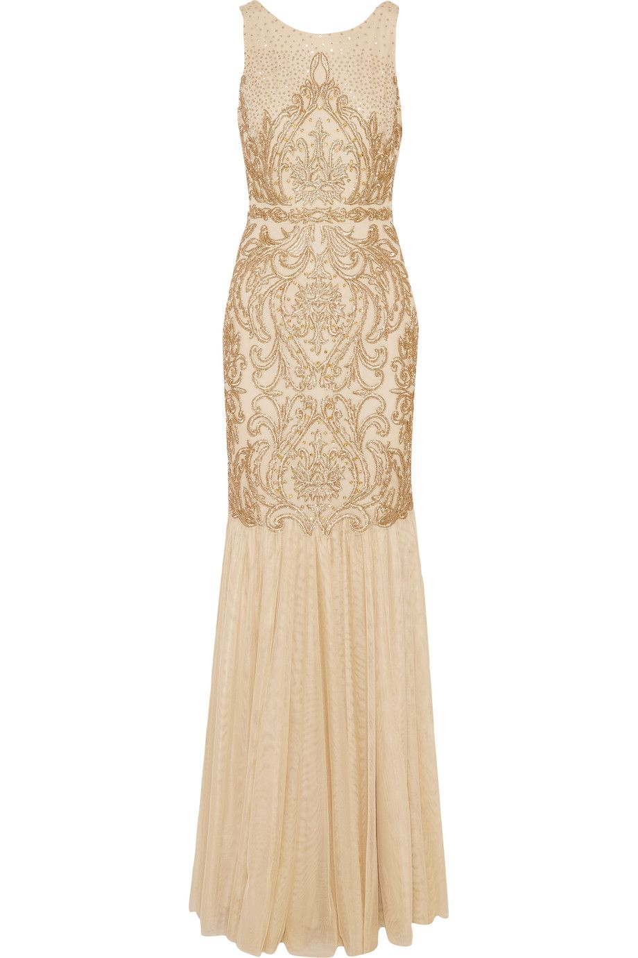 Shop on-sale Badgley Mischka Embellished tulle gown . Browse other ...