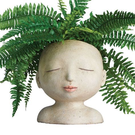 Head of a Lady Indoor/Outdoor Resin Planter