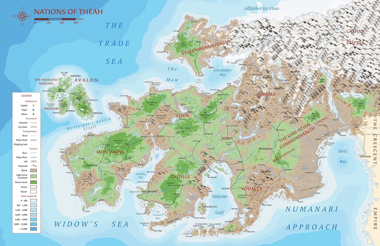 7th Sea: The Closing of the Gates (con immagini) | Mappe, Giochi ...