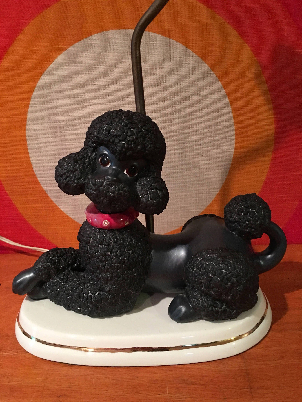 Vintage black poodle lamp kitschy poodle lamp mid century poodle vintage black poodle lamp kitschy poodle lamp mid century poodle accent lamp retro poodle desk lamp 1950s poodle dog lighting geotapseo Images
