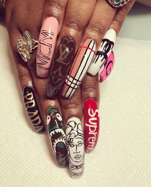 Pin by Jimmy on Extra Long Nails   Pinterest   Nail inspo, Nail nail ...