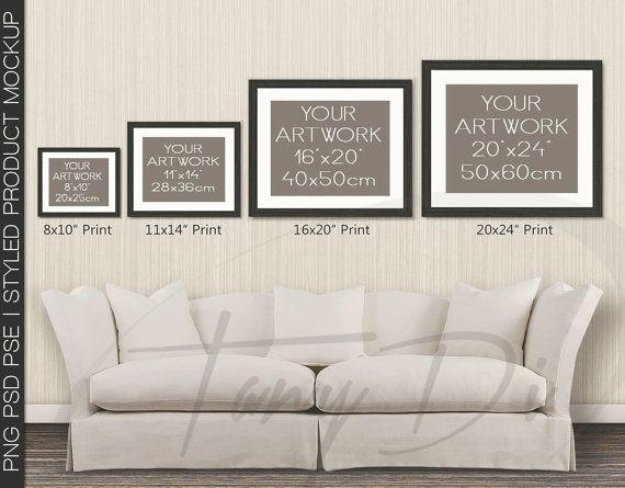 Living Room 8 Sofa Wall Interior 8x10 11x14 By TanyDiDesignStudio