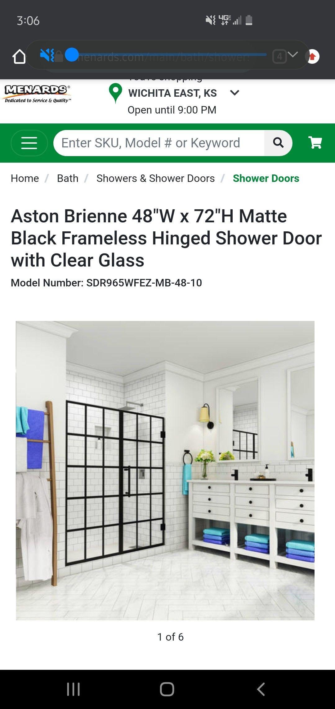 Shower Door 11 Rebate In 2020 Shower Doors Frameless Hinged Shower Door Shower Bath