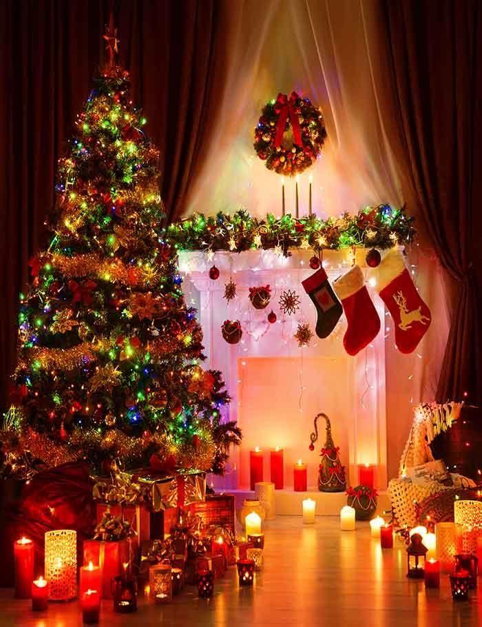 Lighting Xmas Tree Christmas Room For Holiday Photography