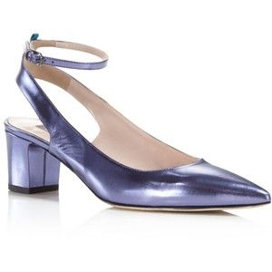 Sale With Paypal Free Shipping Recommend Sjp Maya Metallic Leather Ankle Strap Pumps - 100% Exclusive Cheap How Much S5sNd7I