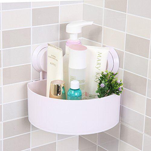Dealglad New Bathroom Corner Suction Cup Bath Rack Organizer Holder ...