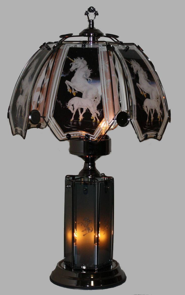 Unicorn Upper-Lower Touch Lamp - P&J Home and Garden Decor