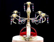 Brass Candle Holder Candelabra Shemadan Candles Handmade Egyptian Belly Dance