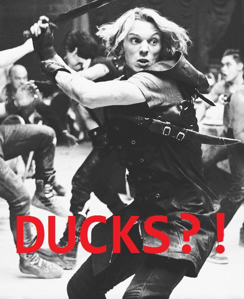 "The most illogical thing for Jace to not like. I mean really, ""Quack."" Jace: ""OH MY GOSH CLARY RUN FOR YOUR LIFE!!!"