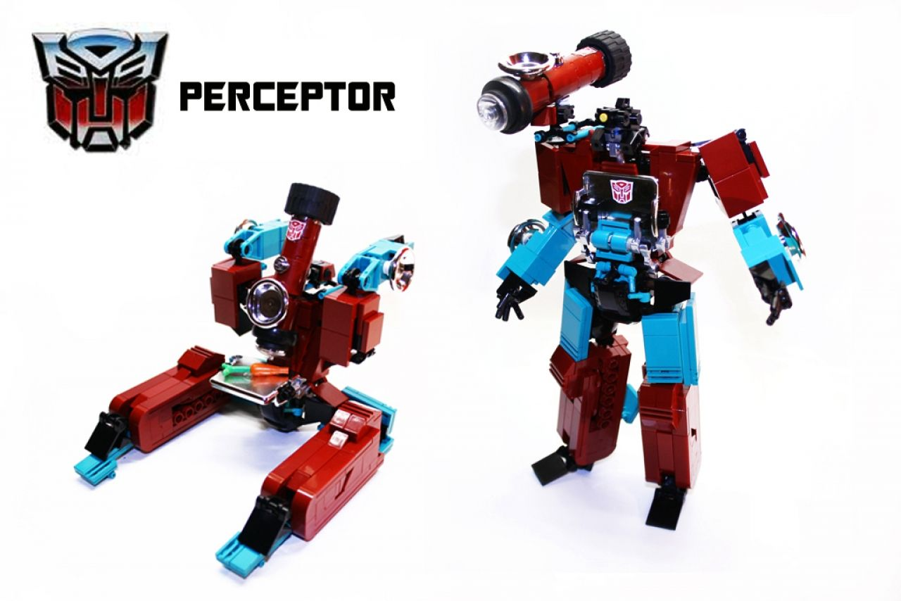 Lego Transformers Toys : Autobot transformer perceptor by orion pax lego