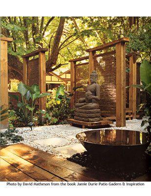 Building A House Front Patio Ideas Buddha Garden Meditation