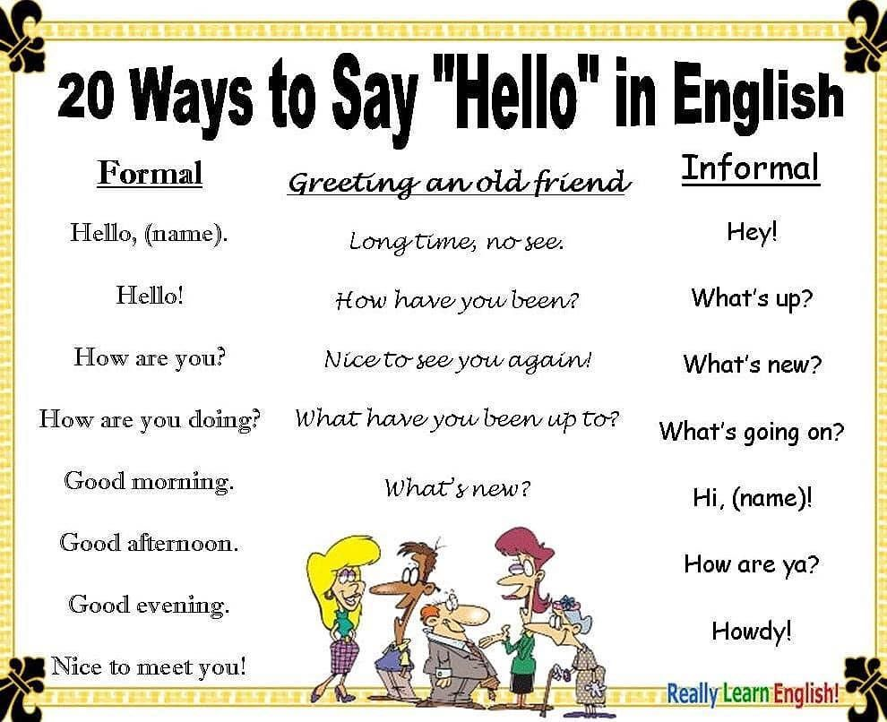 Good Morning Did You Know There Are Different Ways To Say