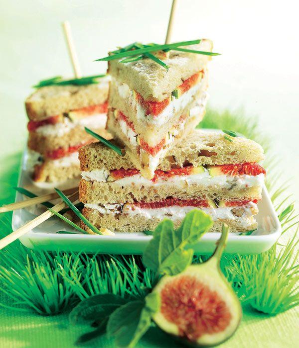 Sandwiches de higos y queso