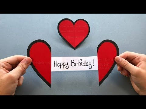 Diy Greeting Card How To Make An Easy Paper Heart With A Message Youtube Hearts Paper Crafts Paper Hearts Greeting Cards Diy