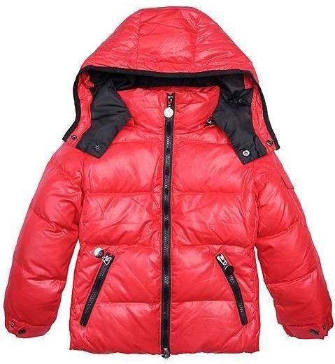 Moncler Kids Jacket Boy Red
