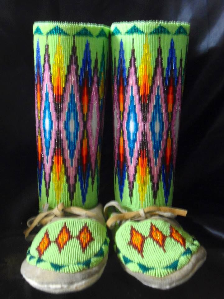 Amazing Beautiful Moccasins Want Fully Beaded Leggings By