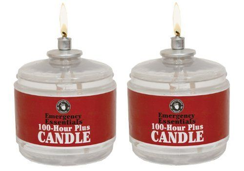 100 Hour Plus Emergency Candle, Clear Mist - Set of 2