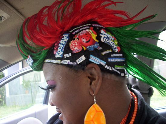 Ghetto Hair Styles: Ghetto Kool Aid Weave. And Does She Have A Moustache Too