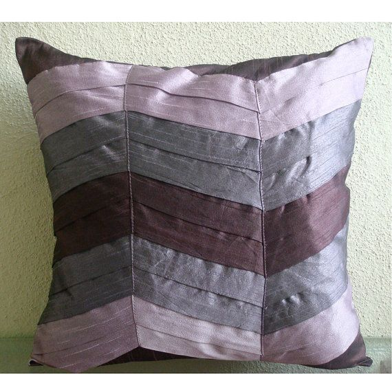 Decorative 20x20 Plum Purple Pillow Case Art Silk Etsy Throw Pillow Cover Couch Throw Pillows Purple Pillows