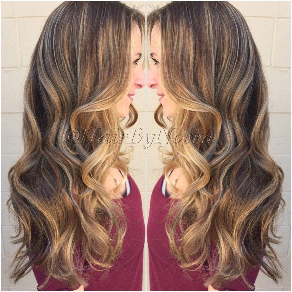 Light golden brown hair ombre