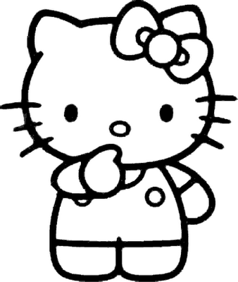 hello kitty coloring pages - Colouring Pages Of Hello Kitty