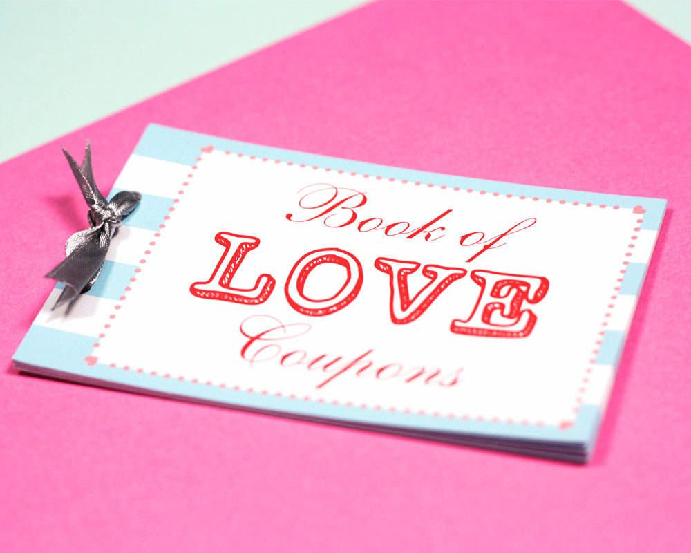 Personalised Love Coupon Book Favor Coupons Love Coupons