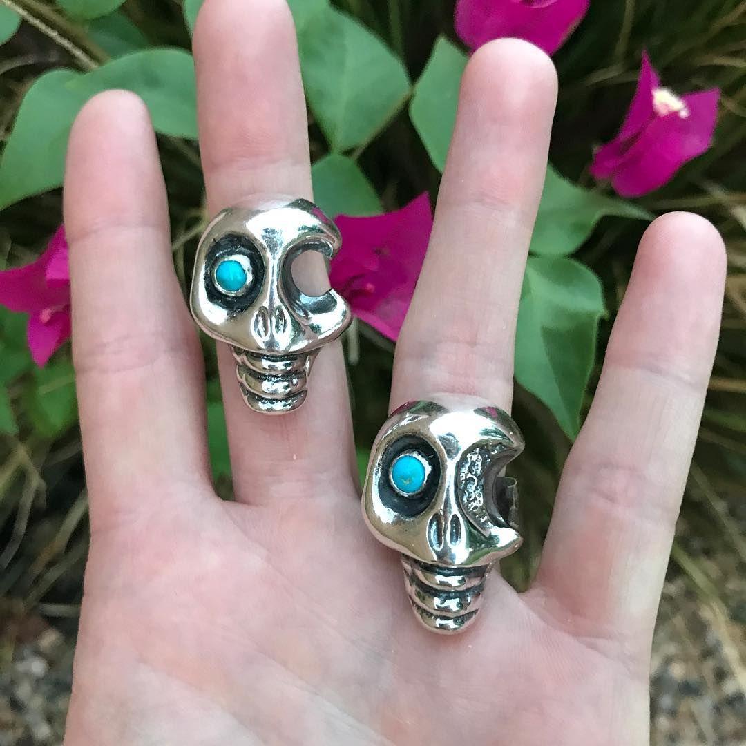 Sandcast Sterling Silver Skull Ring