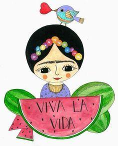 decoraci n laminas de frida kahlo it 39 s a girl pinterest painting kunst y illustration. Black Bedroom Furniture Sets. Home Design Ideas
