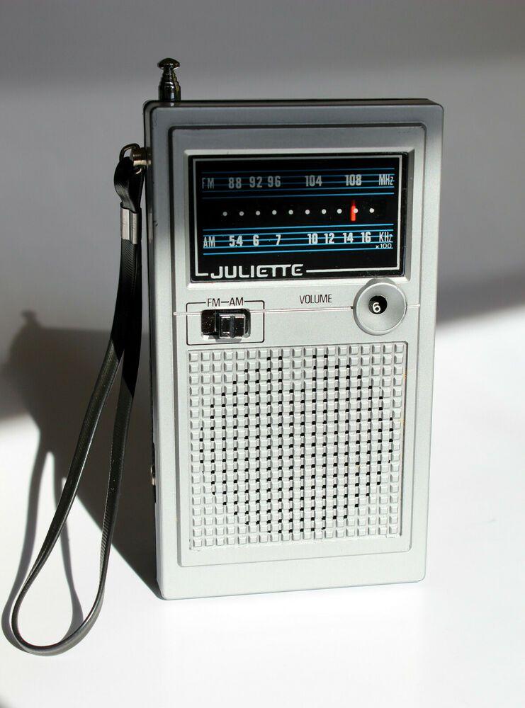 Vintage Juliette Am Fm Transistor Radio Model Frp 1305 Serviced Works Afflink Contains Affiliate Links When You Click O Transistor Radio Pocket Radio Fm Band