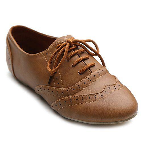 963143970125 cool Ollio Women s Shoe Classic Lace Up Dress Low Flat Heel Oxford (7.5  B(M) US