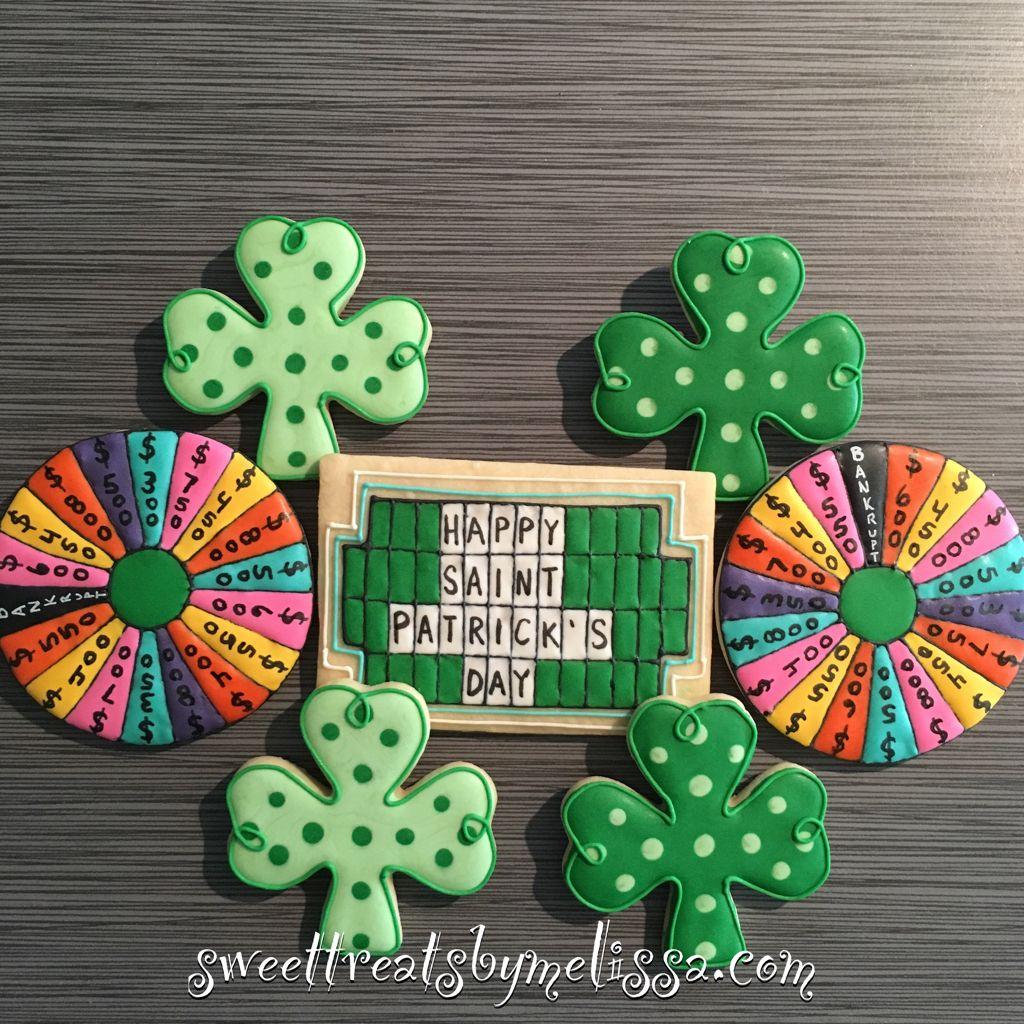 Wheel of Fortune decorated sugar cookies Sugar cookies