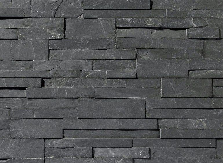 Revestimiento de fachada de piedra natural scaglia nera b revestimientos en piedra - Revestimiento exterior piedra ...