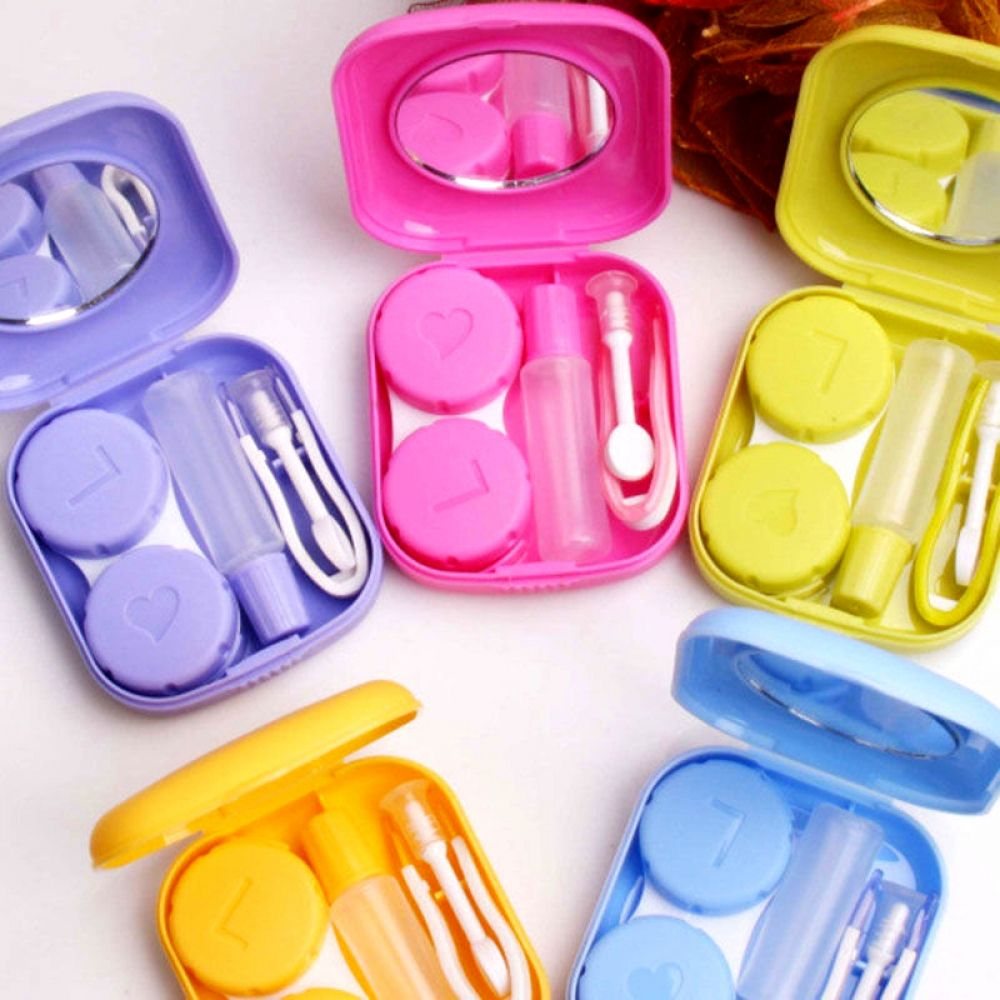 Mini Contact Lens Case Travel Kit Contact Lenses Case Contact Lenses Contact Lens Cases