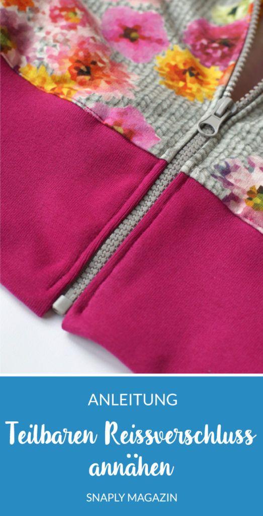 Instructions de couture sur une fermeture éclair divisible | Magazine Snaply   – NÄHEN Nähtipps