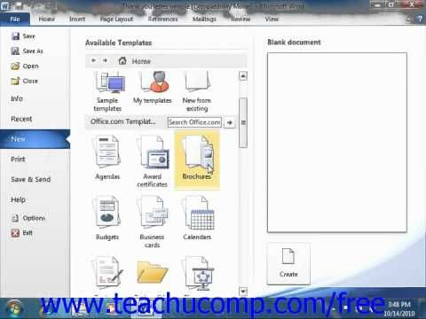 Learn how to use templates in Microsoft Word at wwwteachUcomp - microsoft word diagram templates