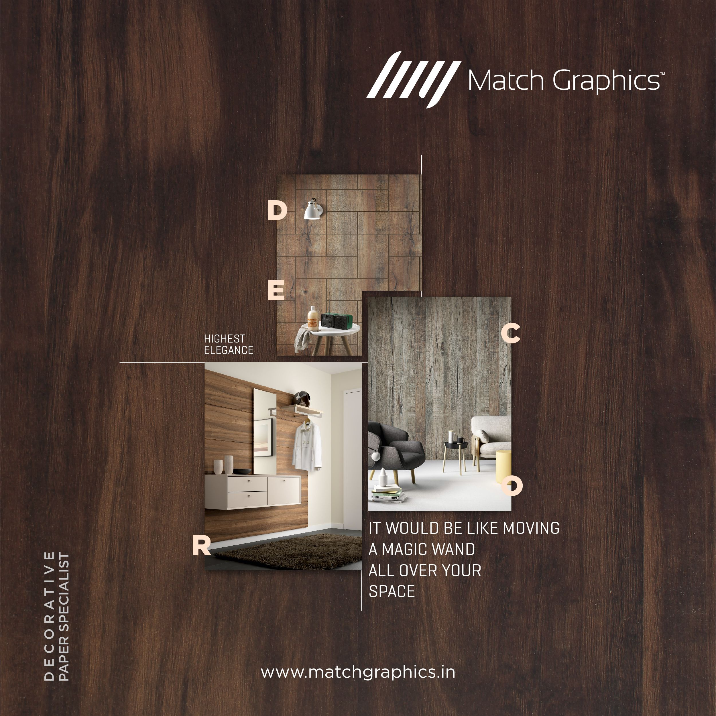 It Would Be Like Moving A Magic Wand All Over Your Space Matchgraphics Matchwell Naturaldecor Decorative Brochure Design Luxury Design Social Media Design