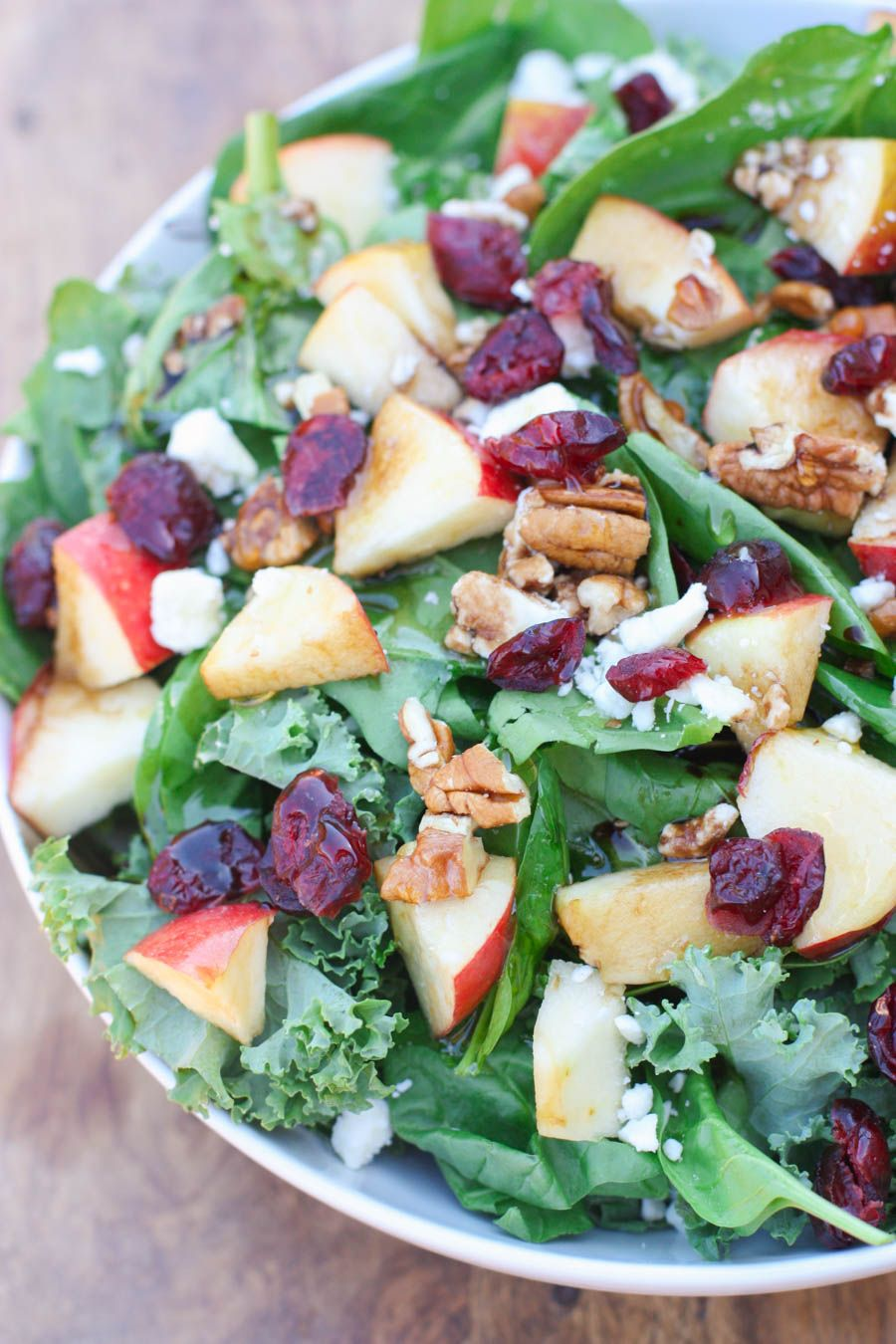 apple cranberry pecan salad with balsamic vinaigrette tastes better from scratch christmas salads recipes