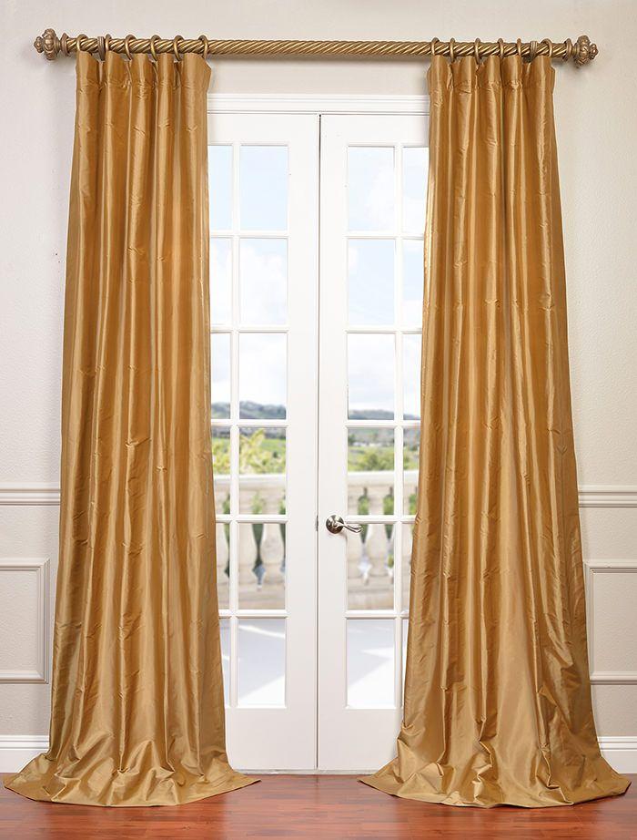Baroque Gold Dupioni Silk Curtain Half Price Drapes Silk